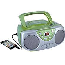 Curtis SRCD243 Sylvania Portable CD Player with AM/FM Radio, Boombox (Green) (Discontinued by Manufacturer)