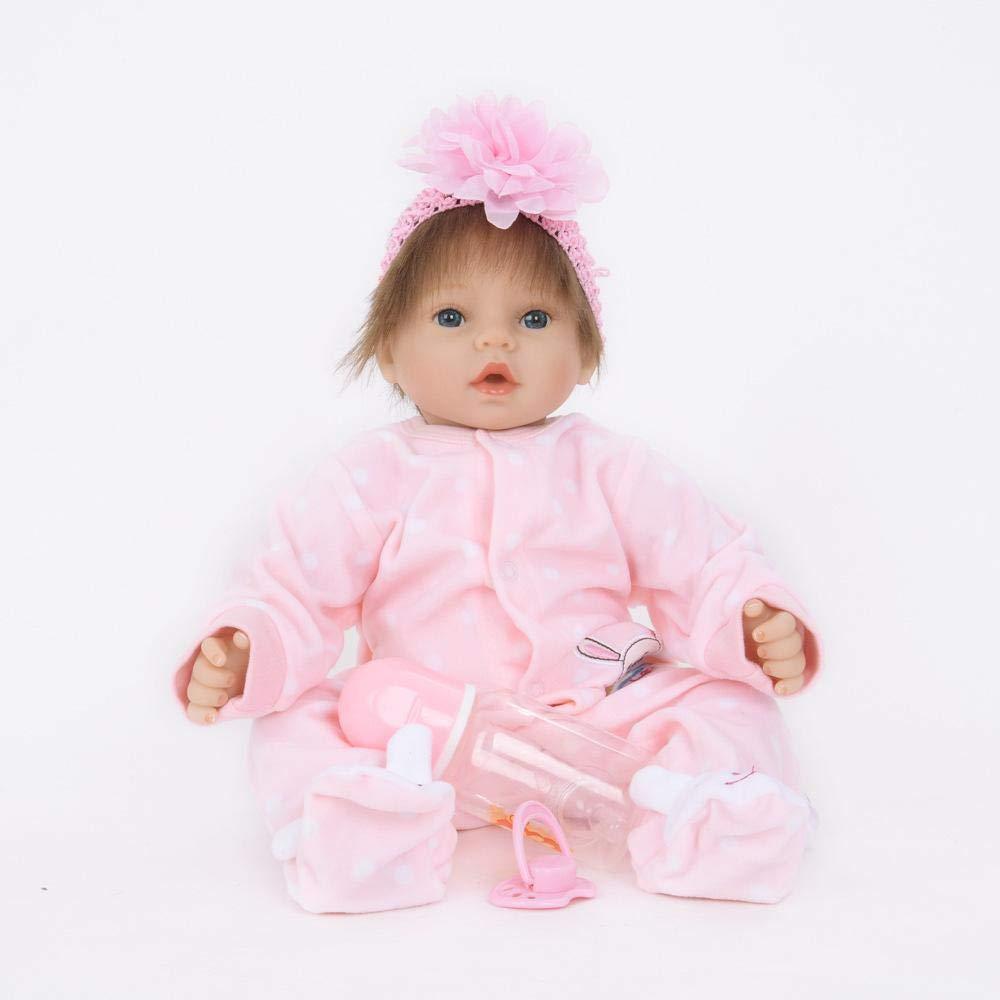 calidad garantizada Hongge Reborn Baby Doll,Se ve una muñeca muñeca muñeca renacida de Silicona Real El bebé Crece una muñeca renacida como compañero de Juguete 55cm  envio rapido a ti