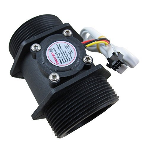 DIGITEN G 2'' 2 inch Flow Water Sensor Meter+LCD Display Controller 10-200L/min+24V Power