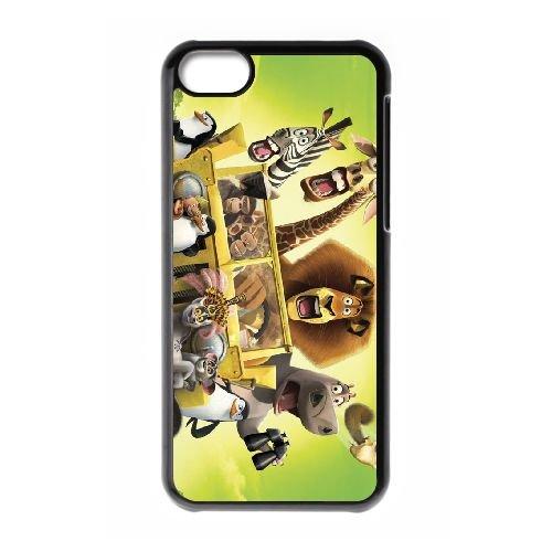 F2J55 Madagascar cas de téléphone M4P5LN coque iPhone 5c cellulaire couvercle coque noire DE2HQH3DD