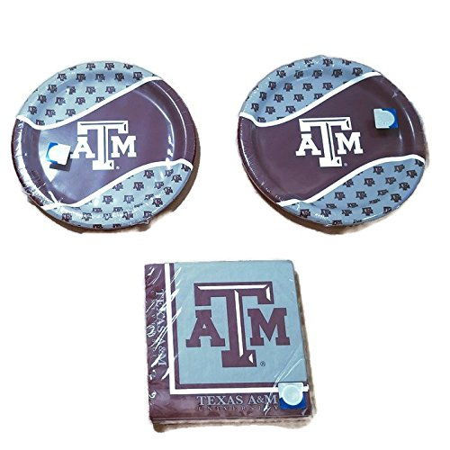 Texas A&m Decorations (NCAA Creative Converting Texas A&M Aggies Party Bundle 9