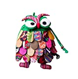 Ethnic Style Handmade Special Kids Backpack Pretty Owl Whimsical Backpack Green