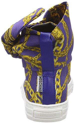 Moschino 25586.0 Mädchen Kurzschaft Stiefel Mehrfarbig (BLU-ORO 9102)