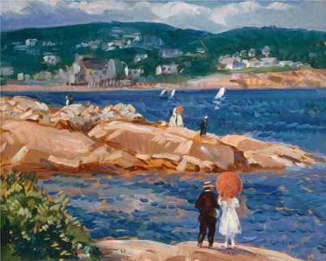 Oil Painting 'Gifford Reynolds Beal,On The Rocks,1922', 30 x 37 inch / 76 x 95 cm , on High Definition HD canvas prints is for Gifts And Bed Room, Gym - Coupon Sunglass Oasis