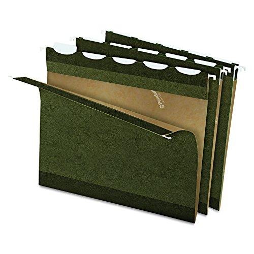 Esselte Standard Folder - Pendaflex Ready-Tab Reinforced Hanging File Folders, Letter Size, Standard Green, 5 Tab, 25/BX (42590)