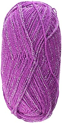 2 Skeins Patons Glam Stripes Yarn 2.1oz//60g 261 yds//239m 85/% Acrylic Orchid