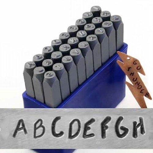 27 Pc Uppercase Impress Art Rad Font Letter Punch Stamp Set 3mm