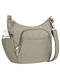 Travelon Anti-Theft Cross-Body Bucket Bag, One Size, Stone