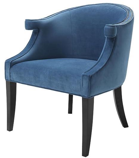 Casa-Padrino sillón de salón Brazos Azul/Negro 70 x 70 x H ...