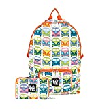 STASH IT Love Reusable Backpack School Work Recycled LOVE BUS Multi