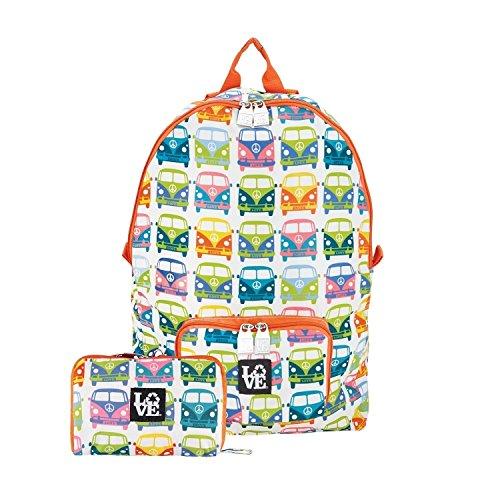 STASH IT Love Reusable Backpack School Work Recycled LOVE BUS Multi by Lovebags