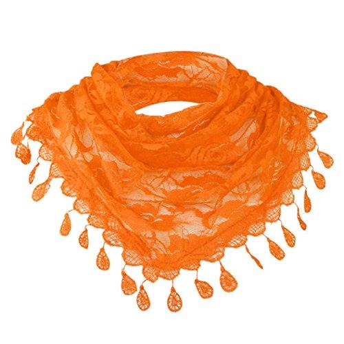 Foulards Pure Dentelle Femmes Wraps Écharpe Creux Couleur Chic Multifonctionnelle Lady Châle Rose Gland Élégant Mode Adeshop Echarpe Orange Floral 1H7w4q