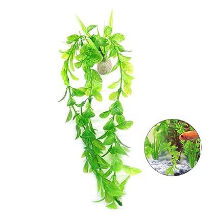 Genial Aolvo Fake Grass Planter,Artificial Aquatic Plants,Small Aquarium Plants Artificial  Fish Tank Decorations