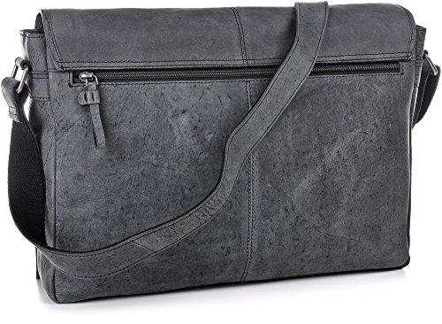 A4 gris sacs sacs Cntmp FOREST main sacs foncé Messenger 42x28x9cm sacs croix à XL Messenger cuir naturel à cuir d'affaires URBAN serviettes en bandoulière cuir qTg5nww