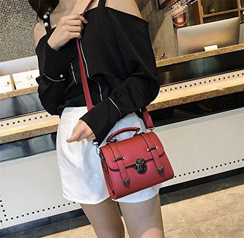 Portátil Bolsa Red Sutura Bao Moda Diagonal De Simple Bolso La Black Sra Juventud Hombro Personalidad Tendencia zCwq10CZn