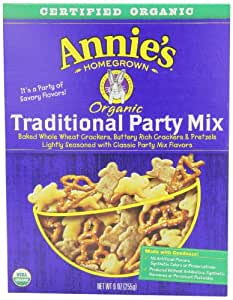 Annie's Homegrown Organic Party Mix Bunnies Traditional, 9-Ounce (Pack of 4)