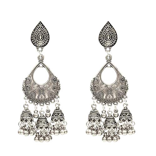 arrings Golden Silvery Fashion Jewelry Fringed Tassel Character Exaggerated Earrings