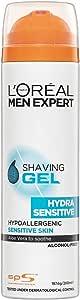 L'Oreal Paris Men Expert Hydra Sensitive Shaving Gel, 200 ml
