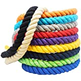 Natural Twisted Cotton Rope by FMS Ravenox | Order by the Foot & Diameter | Strong Triple-Strand Rope for Outdoor Sports, Decor, Pet Toys, Craft Projects, Macramé and General Use (Multiple Colors)