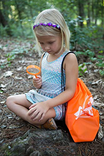 Discover Kids - Outdoor Exploration and Adventure Kit - Children's Toys, Binoculars, Flashlight, Compass, Whistle, Magnifying Glass, Backpack. Designed for Children, Great STEM Gift for Kids by Discover Kids (Image #3)