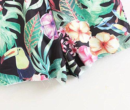 Noir de Shorts Plage Floral Et Shorts de Imprim Mode Femme Loisir pour Oudan REqxpa7wq