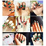 Lookathot 18 Sheets Nail Art Stickers Decals Mixed Color Star Aurora Mirror Design Glass Piece Broken Foil Paper Nail DIY Decoration Tools