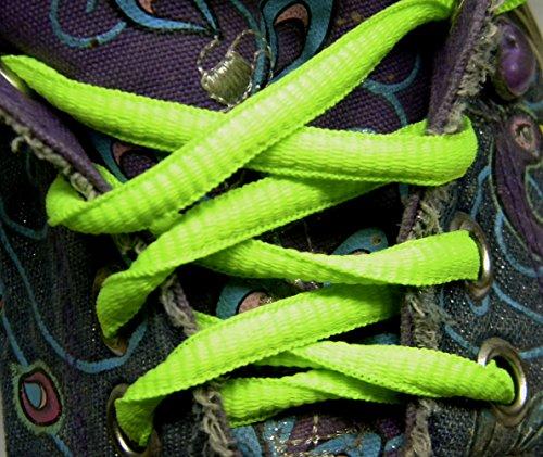 Caldo Neon Verde Proathletic (tm) Ovale Sneaker Lacci Lacci 2 Paia Confezione