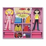 Abby & Emma - Magnetic Dress Up Wooden Doll & Stand + FREE Melissa & Doug Scratch Art Mini-Pad Bundle [49405]