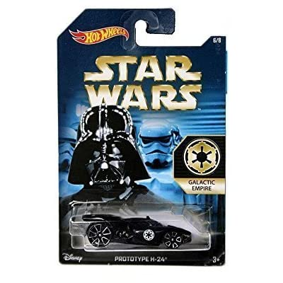 Hot Wheels, 2015 Star Wars, Exclusive Galactic Empire Prototype H-24 [Darth Vader] Die-Cast Car #6/8: Toys & Games