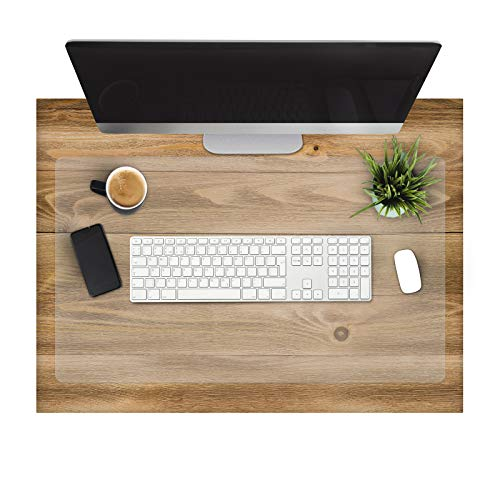 Office Marshal Clear Desk Pad - Transparent Desk Mats on Top of Desk | Anti-Static Computer Desk Mat for Home & Office | 16