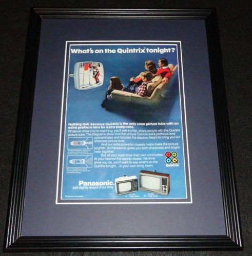 1976-panasonic-quintrix-ct-215-ct-905-tv-framed-11x14-original-advertisement