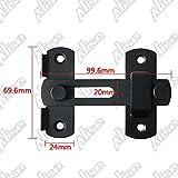 Alise MK001 Stainless Steel Gate Latches Flip Latch Safety Door Bolt Latch Lock,Matte Black