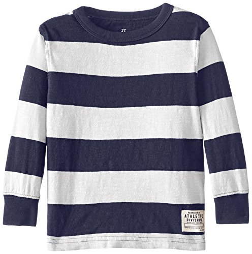 The Children's Place Little Boys' Long Sleeve Crew Tee, Tidal, 3T