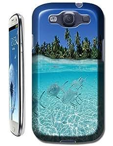 Beautiful Beach Sunshine Sea Water Clean White Cloud Design For Samsung Galaxy S3 i9300 No.28
