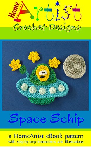 Ship Applique - Crochet Pattern: Spaceship Applique Homeartist Design