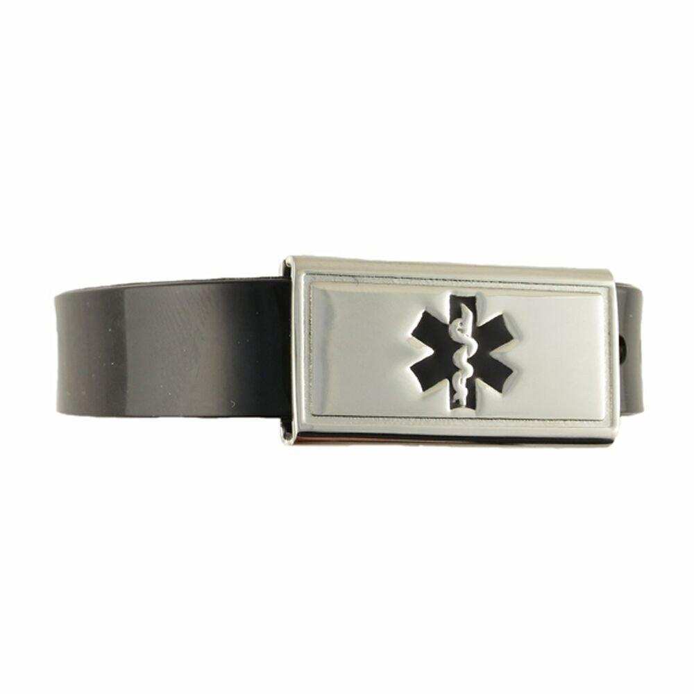 Free Custom Engraving, Kid's, Child Medical Alert ID Bracelet - Adjustable Size - Jelly - Midnight