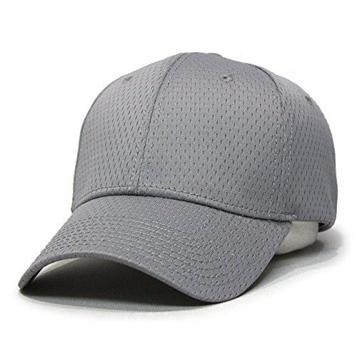 Plain Pro Cool Mesh Low Profile Adjustable Baseball Cap (Gray) ()