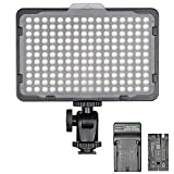 #4: Neewer Dimmable 176 LED Video Light on Camera LED Panel with 2600mAh Li-ion Battery and Charger for Canon, Nikon, Samsung, Olympus and Other Digital SLR Cameras for Photo Studio Video Photography