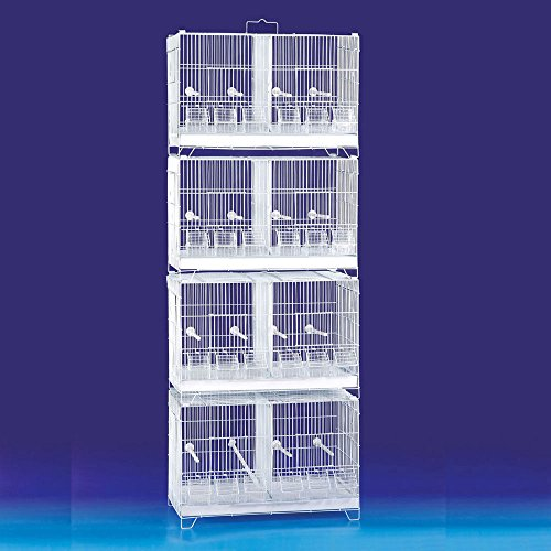 Mcage COMBO: Stack and Lock Double Breeder Cage Bird Breeding Cage With Removable Dividers And Breeder Doors 4 Of 23.5