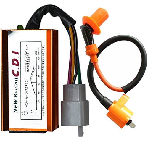 WPHMOTO 5 Pin AC CDI Box and Ignition Coil for 110cc 125cc 150cc ATV Quad Pit Dirt Bike Scooter Moped