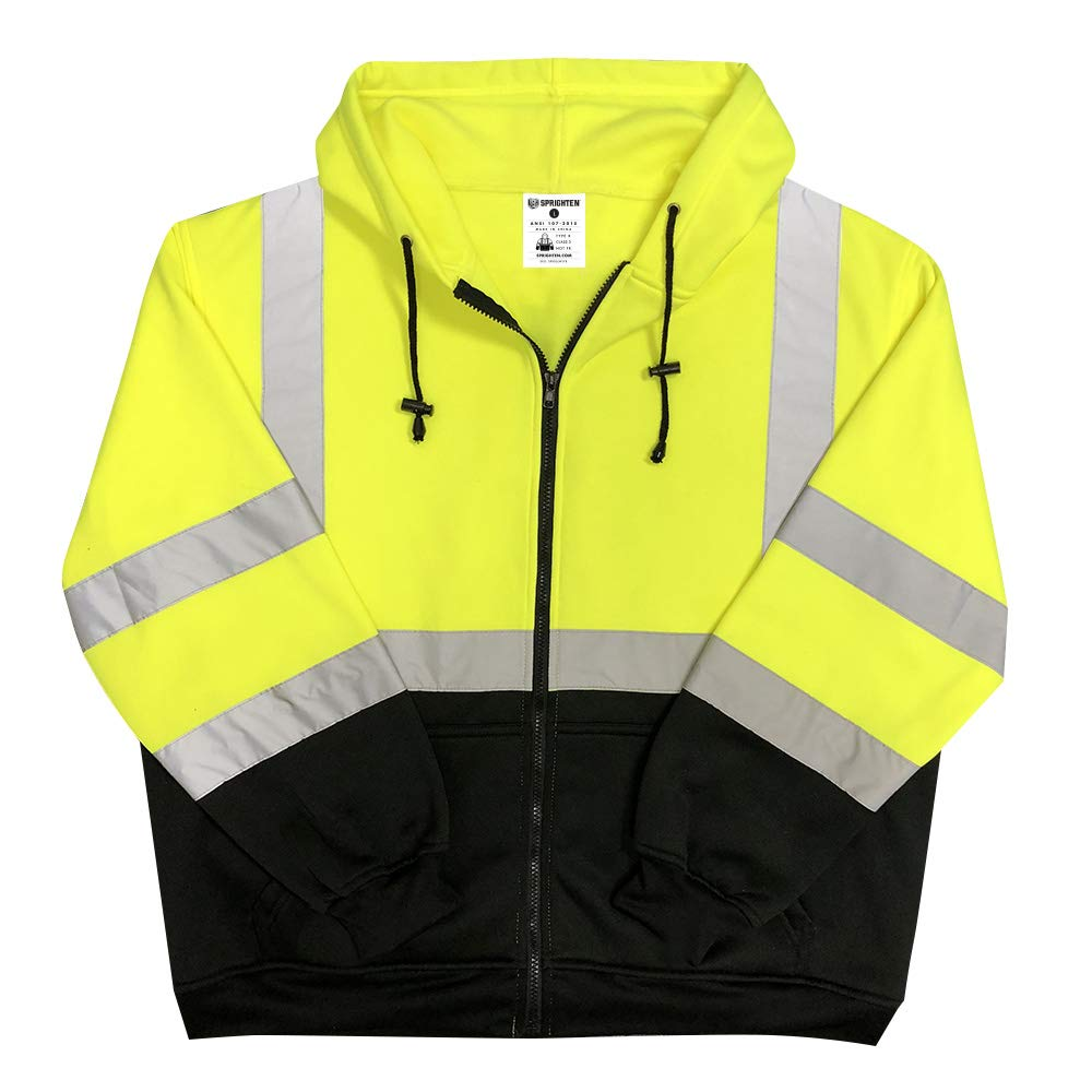 XX-Large Safety Main Lightweight High Visibility Hooded Jacket