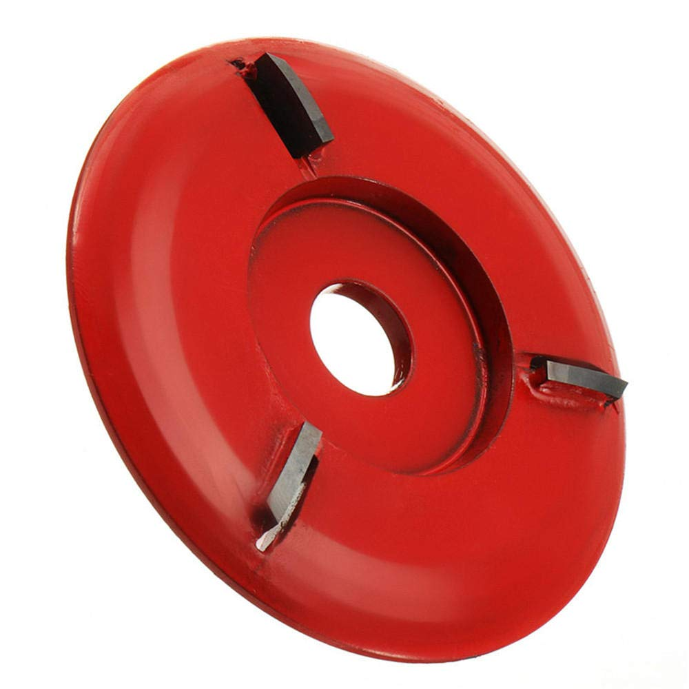 90mm Diameter 16mm Bore Red Power Wood Carving Disc Angle Grinder Attachment