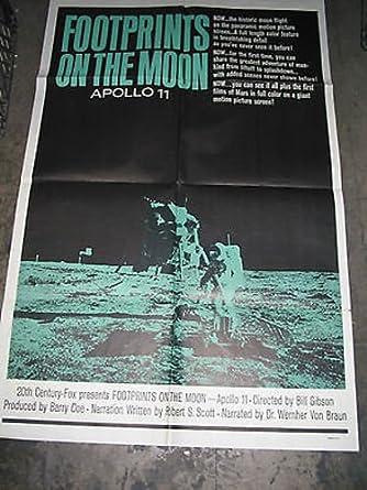 Nasa Program 1960-69 Footprints On The Moon Original Apollo 11 Rare Poster
