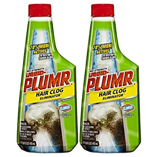 Liquid-Plumr Pro-Strength Clog Remover, Hair Clog Eliminator, 16 Fluid Ounces (Pack of 2)