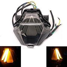 Alpha Rider Custom Smoke Motorcycle Tail Light Rear Lamp 12V LED Integrated Taillight Turn Signals Light Fit YAMAHA YZF R25 R3 FZ-07 MT-07