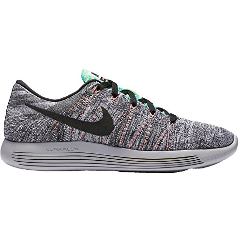 - Nike Mens LunarEpic Low Flyknit Running Shoe White/black/bright Mango/gamma Blue 10 D(M) US