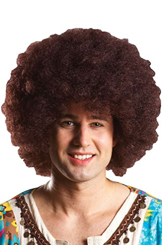 [8eighteen 1970s Disco Fever Party Afro Costume Wig (Brown)] (70s Punk Costumes)