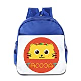 DeniseRama 7 Special I Hate The Weekend Cat Basic Backpack For 3-6 Years Old Girls RoyalBlue Size One Size