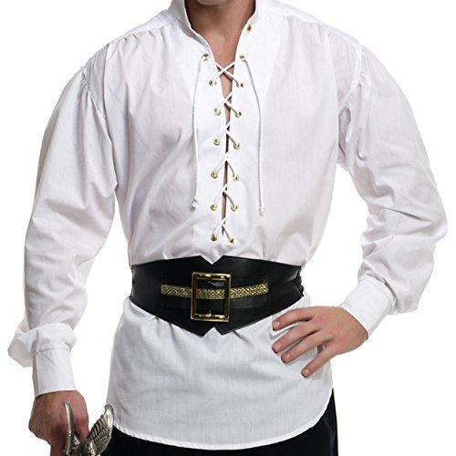 Eyelet Big Shirt - Boys Eyelet Pirate Shirt Costume - Large