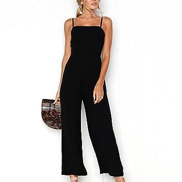ffec7d39c10 Amazon.com   Fashion Women Holiday Wide Leg Pants Long Jumpsuit ...